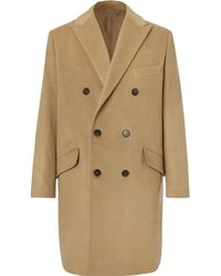 Altea Double-breasted Cashmere Coat - Natural