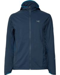 Arc'teryx Incendo Slim-fit Mesh-panelled Lumin Hooded Jacket - Blue