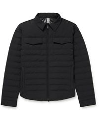Incotex Slim-fit Quilted Padded Shell Jacket - Blue