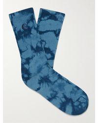Carhartt WIP Vista Tie-dyed Cotton-blend Socks - Blue