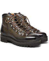 Ralph Lauren Purple Label - Fidel Leather Boots - Lyst