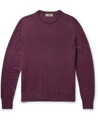 Canali Merino Wool Rollneck Jumper - Purple