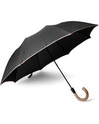 Paul Smith Contrast-tipped Wood-handle Umbrella - Black