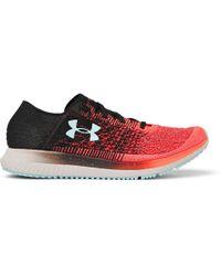 Under Armour - Threadborne Blur Stretch-knit Running Sneakers - Lyst