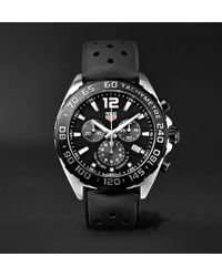 Tag Heuer | Formula 1 Chronograph 43mm Stainless Steel And Rubber Watch | Lyst