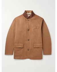 Loro Piana Roadster Suede-trimmed Cashmere Jacket - Brown