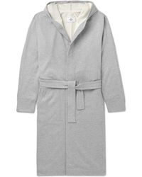 Reigning Champ Loopback Cotton-jersey Hooded Robe - Gray