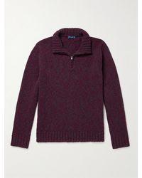 Peter Millar Wool And Cashmere-blend Half-zip Jumper - Purple