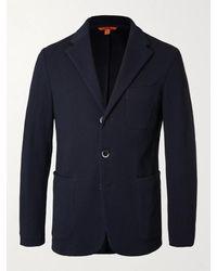Barena Unstructured Ribbed Cotton Blazer - Blue