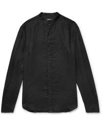 Club Monaco - Slim-fit Grandad-collar Linen Shirt - Lyst