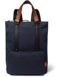 Valentino - Garavani Leather-trimmed Canvas Backpack - Lyst