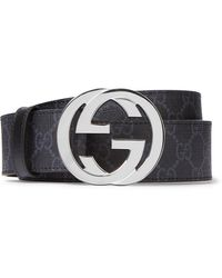Gucci Leather Logo Belt - Black