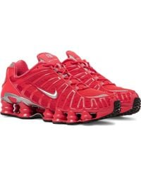 Nike - Shox Tl Mesh And Rubber Sneakers - Lyst