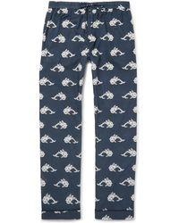 Desmond & Dempsey - Printed Cotton Pyjama Trousers - Lyst