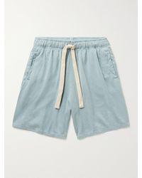 Jungmaven Garment-dyed Hemp And Organic Cotton-blend Jersey Shorts - Blue