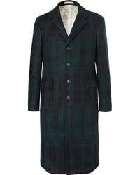 Massimo Alba - Checked Virgin Wool Coat - Lyst
