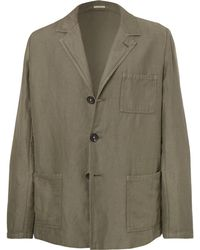 Massimo Alba - Unstructured Linen And Cotton-blend Suit Jacket - Lyst