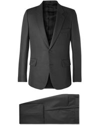 The Row Dark-grey David Slim-fit Virgin Wool And Mohair-blend Gabardine Suit - Gray