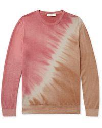 Altea Tie-dyed Cashmere Jumper - Pink