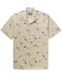 Gitman Brothers Vintage Camp-collar Printed Cotton-blend Shirt - Natural
