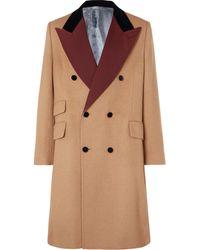 Gucci Peak Lapel Coat - Brown