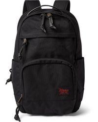 Filson Dryden Leather-trimmed Cordura Backpack - Blue