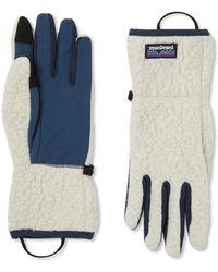 Patagonia Retro Pile Nylon-panelled Polartec Fleece Gloves - Blue