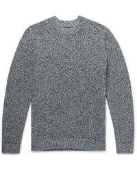 Cotton Folk Sweater Mélange Stretch Lyst Ew16qxYv1
