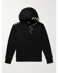 Craig Green Lace-detailed Cotton-jersey Hoodie - Black