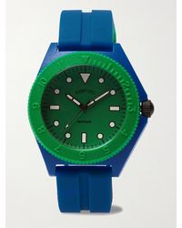 BAMFORD LONDON Mayfair Sport Limited Edition Polymer And Rubber Watch - Blue