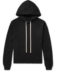 Billy Oversized Loopback Cotton-jersey Hoodie - Black