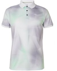 Kjus Golf Printed Stretch-jersey Golf Polo Shirt - White