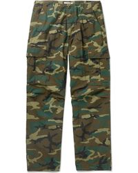 Orslow - Camouflage-print Cotton-ripstop Cargo Trousers - Lyst