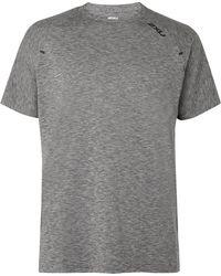 2XU X-ctrl Perforated Mélange Jersey T-shirt - Grey