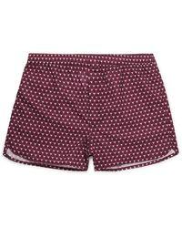 Derek Rose Ledbury Printed Cotton Boxer Shorts - Purple