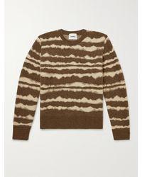Nanushka Virote Striped Jacquard-knit Jumper - Brown