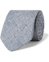 Favourbrook 8cm Linen-jacquard Tie - Blue