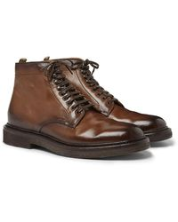 Officine Creative Stanford Burnished-leather Boot - Brown