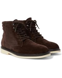 Loro Piana - Icer Walk Shearling-lined Suede Boots - Lyst