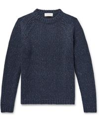 Studio Nicholson - Salvation Mélange Merino Wool-blend Sweater - Lyst