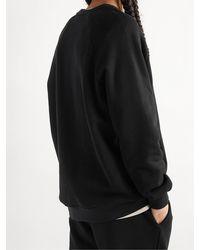 NINETY PERCENT Organic Cotton-jersey Sweatshirt - Black