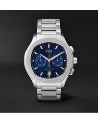 Piaget Polo Automatic Chronograph 42mm Stainless Steel Watch, Ref. No. G0a41006 - Blue