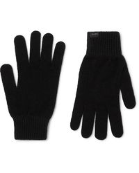 Paul Smith Cashmere And Wool-blend Gloves - Black