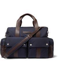 Brunello Cucinelli - Nylon And Full-grain Leather Holdall - Lyst