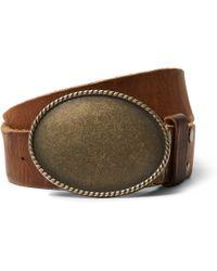 Kingsman | Jean Shop Statesman 4cm Brown Leather Western Belt | Lyst