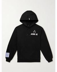 McQ In Dust Appliquéd Cotton-jersey Hoodie - Black