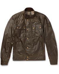 Belstaff Racemaster Waxed-cotton Jacket - Brown