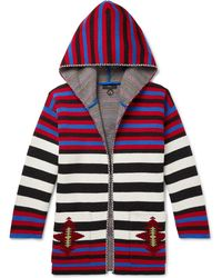 Alanui - Striped Wool-jacquard Hooded Cardigan - Lyst