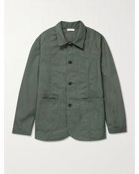 Deveaux Jackson Cotton-blend Canvas Jacket - Grey