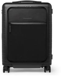 Horizn Studios M5 55cm Polycarbonate, Nylon And Leather Carry-on Suitcase - Black
